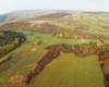 Zdjęcie Wysoczan wykonane z lotu paralotnią nad Kulasznem, czyli pogranicze Bieszczad i Beskidu Niskiego - tereny bardzo atrakcyjne turystycznie.