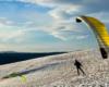 Snow Gliding - sport ekstremalny i niepowtarzalna atrakcja wymyślona w Bieszczadach - na zdjęciach SnowGliding na górze Rzepedka na terenie Nadleśnictwa Lesko.