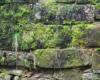 Kamień, z którego końcem XIX wieku został wykonany most bieszczadzkiej kolejki leśnej przeb budowniczych z Włoch.