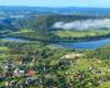 Widzieliście kiedyś takie ujęcie miejscowości Bóbrka nad Zalewem Myczkowieckim w Bieszczadach?