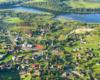 Ciekawe czy ktoś z posiadających noclegi w Bóbrce rozpozna na tym zdjęciu swoje zabudowania podziwiane podczas lotu paralotnią nad Bieszczadami...