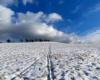 Śnieg, chmurki, błękitne niebo nad Bieszczadami i nadzieja, że wychodząc po raz kolejny na szczyt góry z widokiem na Bieszczady i Beskid Niski, że ponownie zobaczę stado żubrów...