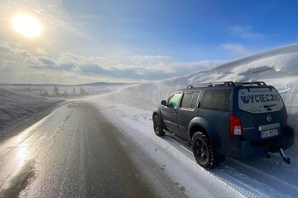 Zaspy śnieżne w Beskidzie Niskim - zdjęcia Płonna, 22 luty 2021