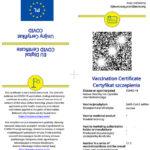 Certyfikat covid 19 koronawirus wzór niezbędny do przekroczenia granicy z Ukrainą jadąc na wycieczkę jednodniową do Lwowa z Bieszczad.